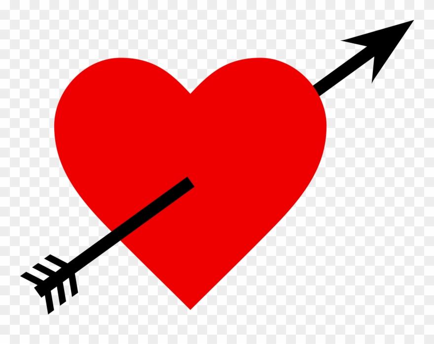 Filelove arrow love with. Arrows clipart heart