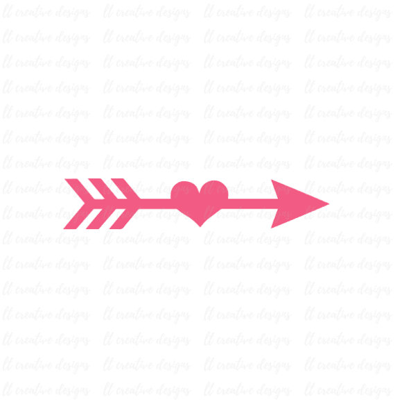 Arrows clipart silhouette. Arrow svg heart cutting