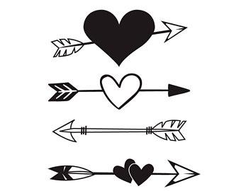 Arrows clipart heart. Arrow etsy svg tribal