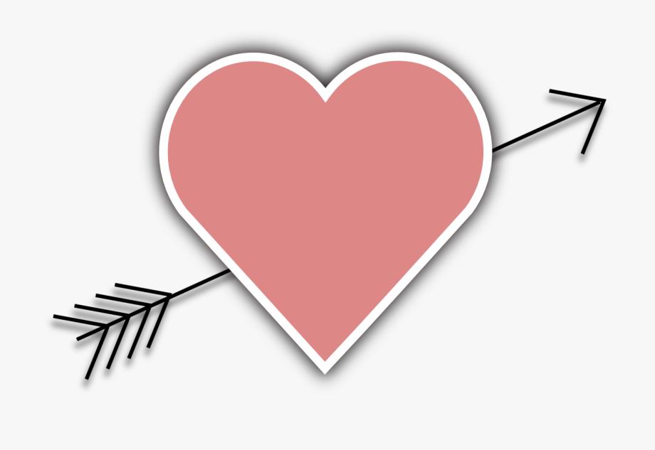 Valentines arrow transparent . Arrows clipart heart