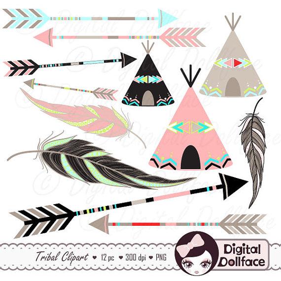 Arrows clipart native american. Tribal arrow clip art