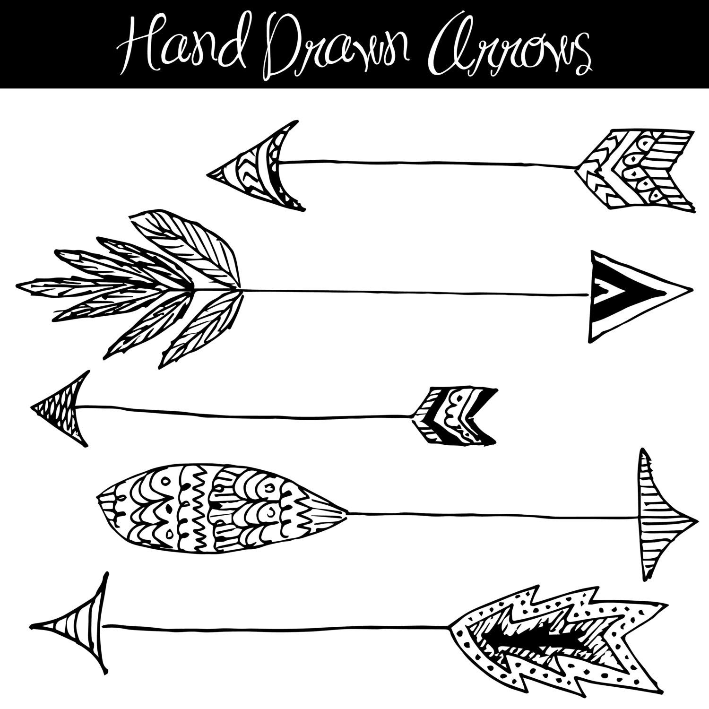 Clip art hand drawn. Arrow clipart native american