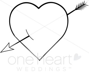 Arrow clipart outline. Cupid heart images