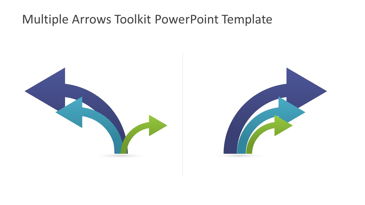 Arrows clipart powerpoint. Multiple toolkit template