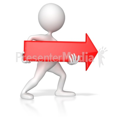 Arrows clipart powerpoint. Stick figure pointing red