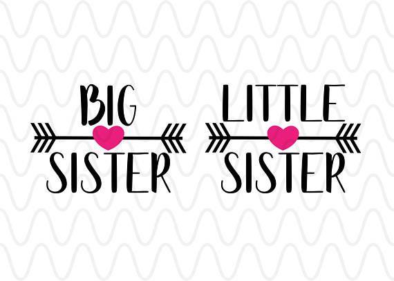 Arrows clipart primitive. Big sister little heart