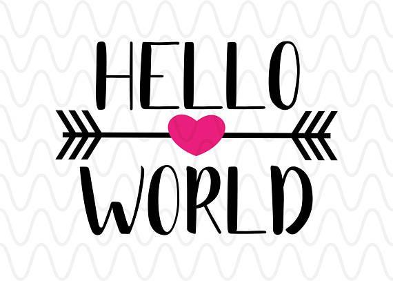 Arrows clipart primitive. Hello world heart script