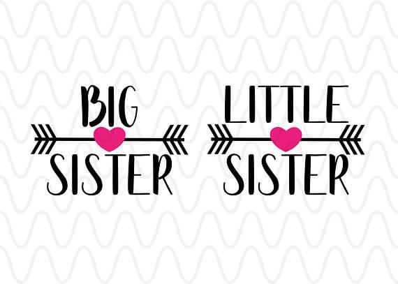 Big sister little heart. Arrows clipart primitive