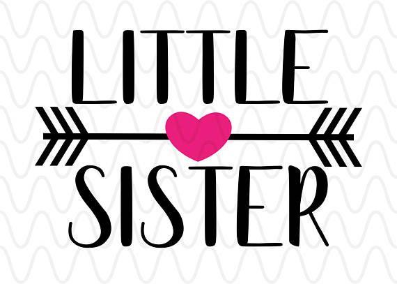 Arrows clipart primitive. Little sister heart script