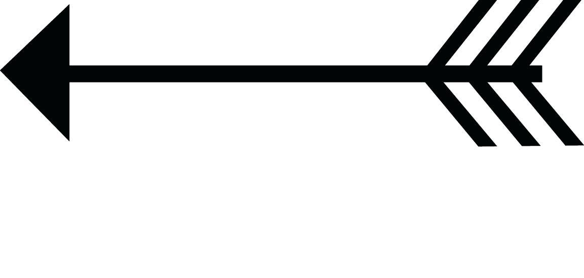 Arrow silhouette clip art. Arrows clipart printable