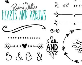 Rustic heart and arrow. Arrowhead clipart vector