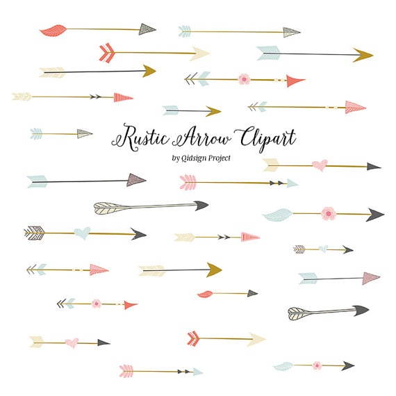 Arrows clipart rustic. Arrow for scrapbooking wedding