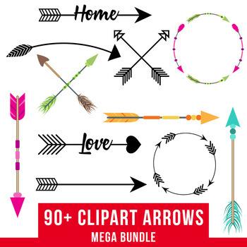 arrows mega bundle. Arrow clipart rustic