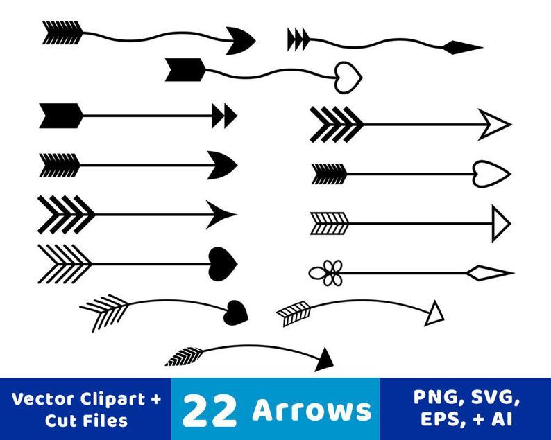 rustic arrow svg. Arrows clipart decorative