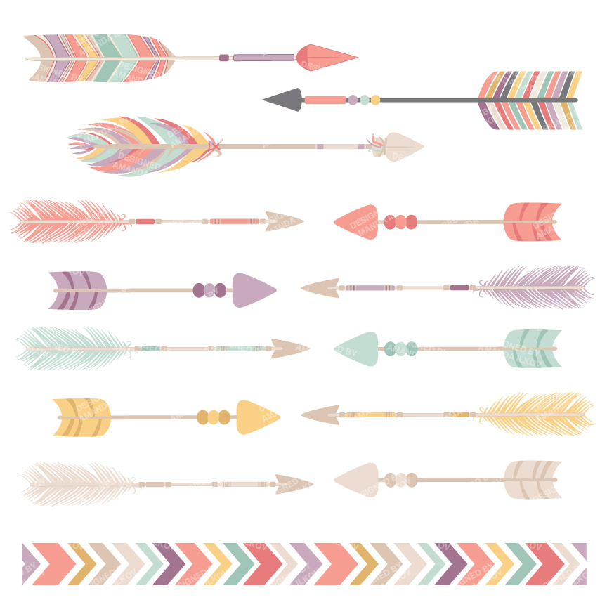 Arrows clipart shabby chic. Fabulous floral feathers graphic