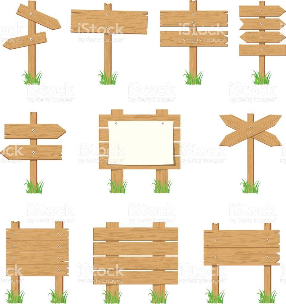 Wooden signboards wood arrow. Arrows clipart signboard