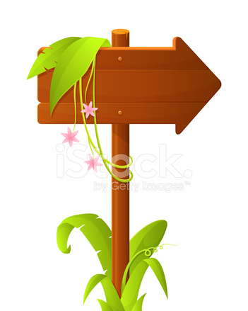 Wooden arrow with tropical. Arrows clipart signboard