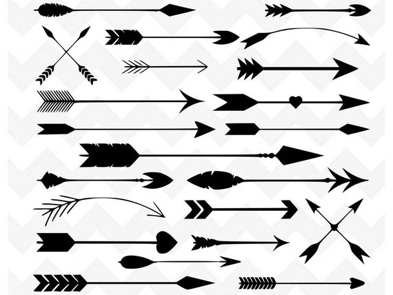 View 68 Arrows Svg Doodles Bundle, Arrow Monogram Svg Files PNG