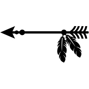 Arrows clipart feather. Silhouette images at getdrawings