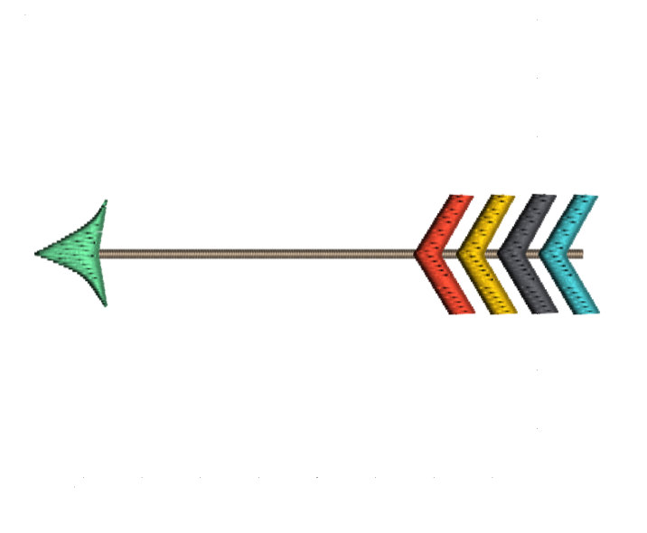 Arrow clipart single. Machine embroidery pattern download