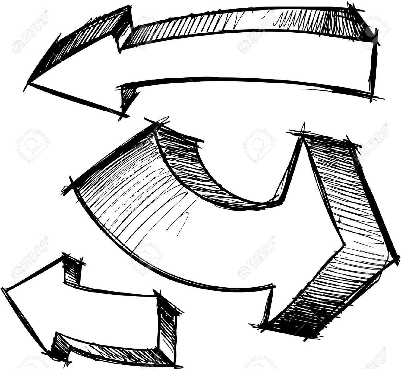 Free doodle arrow clipartpig. Arrows clipart sketch