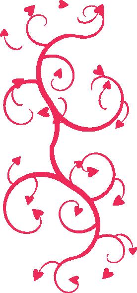 Hearts arrow swirls clip. Arrows clipart swirl