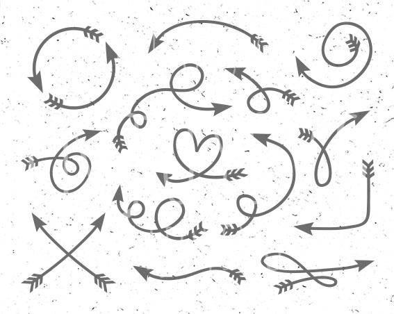 Arrow clipart swirl. Svg doodle doddle designs