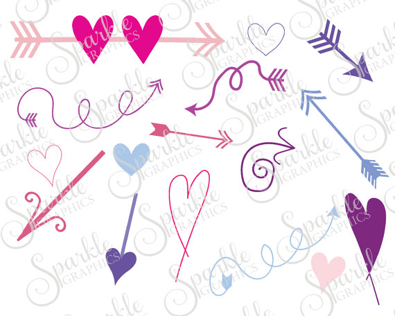 Arrows clipart swirl. Arrow cut file heart