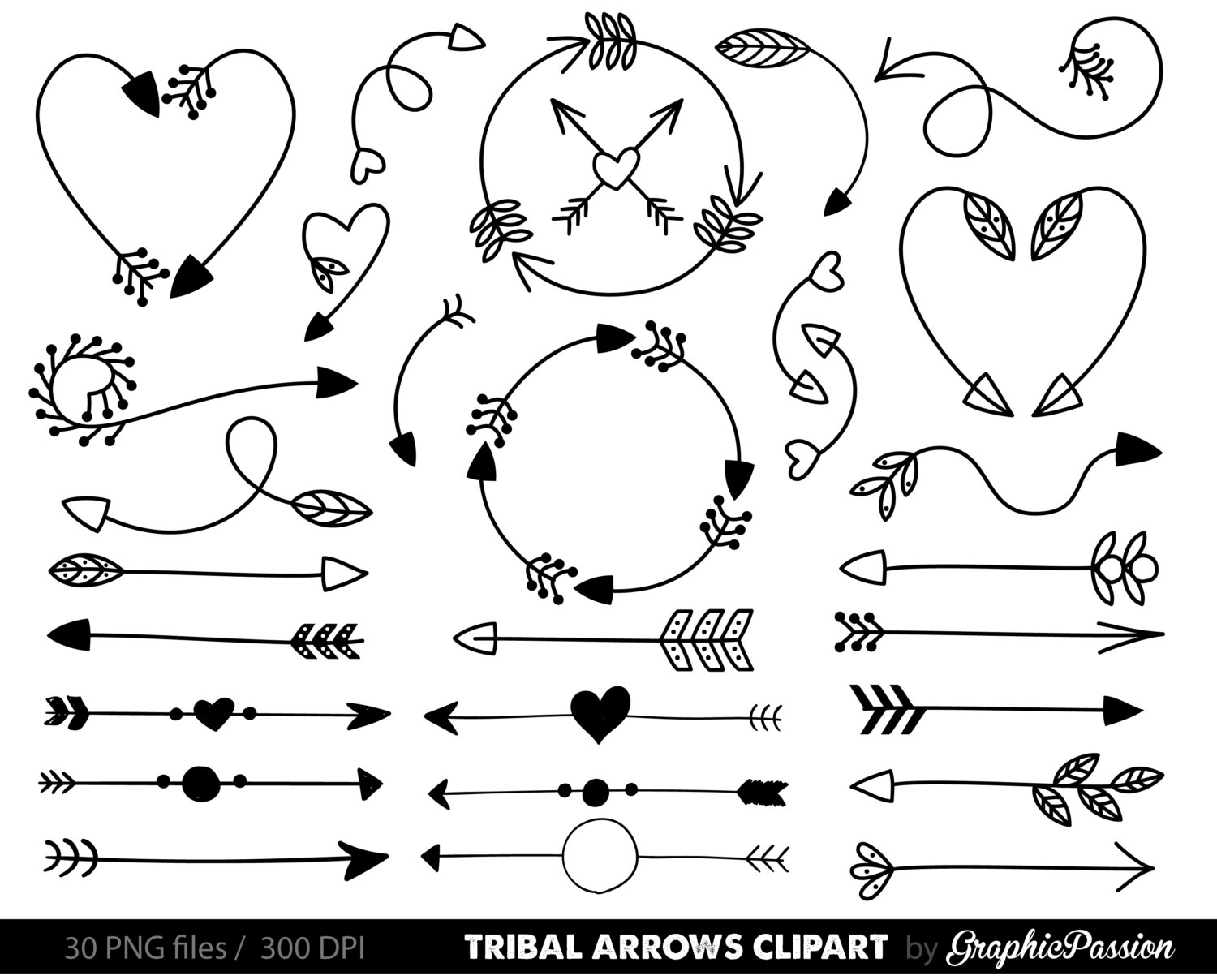 Clip art tribal arrow. Arrows clipart doodle