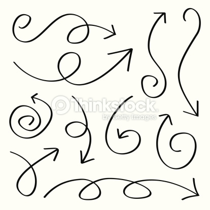 Arrow pencil and in. Arrows clipart swirl