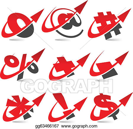 Eps illustration arrow symbol. Arrows clipart swoosh
