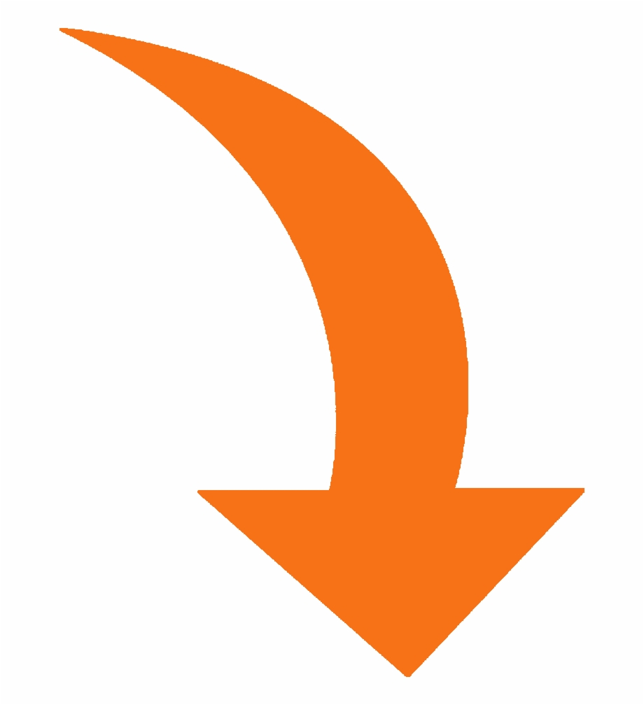 Curved arrow orange png. Arrows clipart swoosh