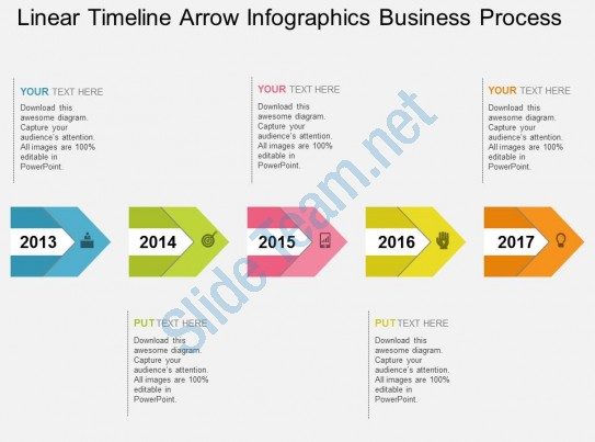 Arrows clipart timeline. Kh linear arrow infographics