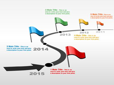 Navigate a powerpoint template. Arrows clipart timeline