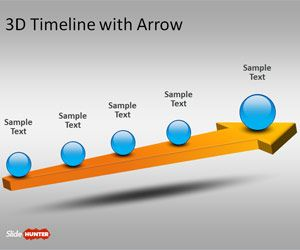 Free d template for. Arrows clipart timeline