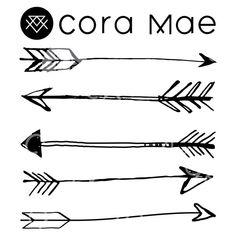 Large sketched arrow chalkboard. Arrows clipart sketch