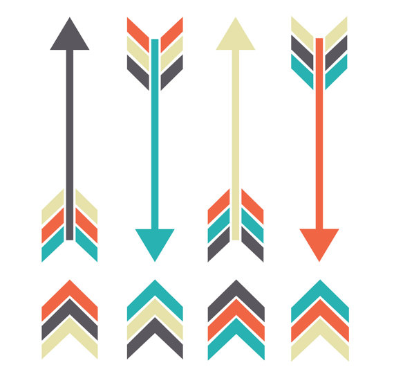 Arrows clipart tribal. Arrow