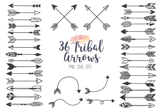 Illustrations creative market . Arrows clipart tribal