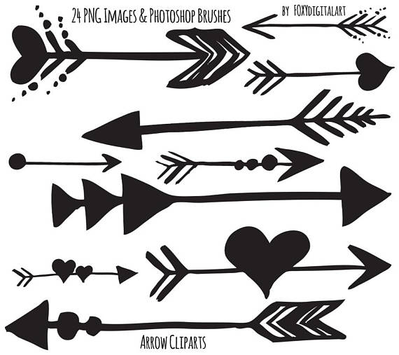 Arrow hand drawn photoshop. Arrows clipart tribal