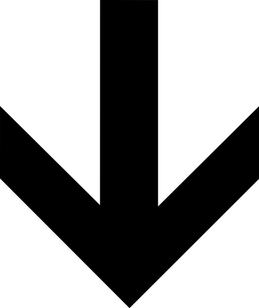 Down clip art free. Arrow clipart vector