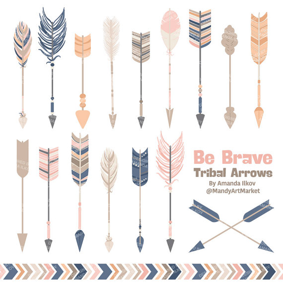 Arrows clipart vector. Professional tribal vectors in