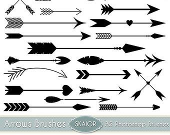 Arrows vector clip art. Arrow clipart vintage