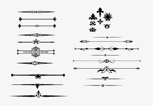 Small patterns elements vector. Arrow clipart vintage