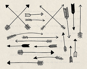 Arrows clipart vintage. Arrow drawing at getdrawings