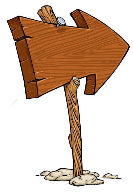Wooden arrow blank sign. Hunting clipart wood