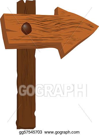 Arrow clipart wood. Vector art very rough