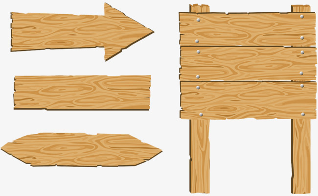 Arrows clipart signboard. Wood sign board indicator