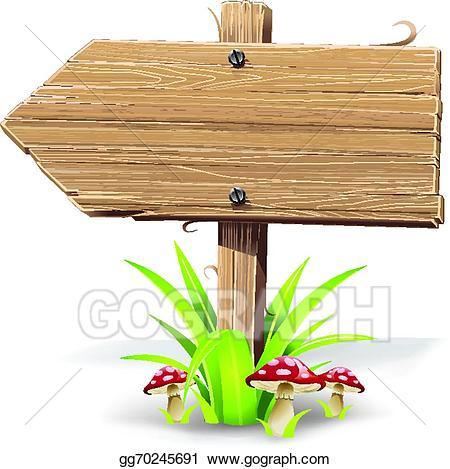 Clip art vector wooden. Arrow clipart wood