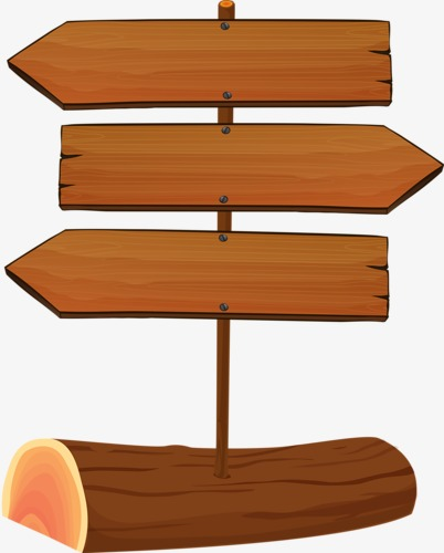 Arrow clipart wood. Signpost direction png image