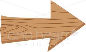 Wooden country wedding. Arrow clipart wood